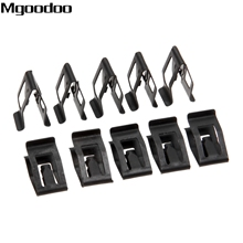 10Pcs Universal Car Front Console Dash Dashboard Auto Trim Metal Retainer Black Rivet Fastener clip for Ford Mazda Audi Toyota