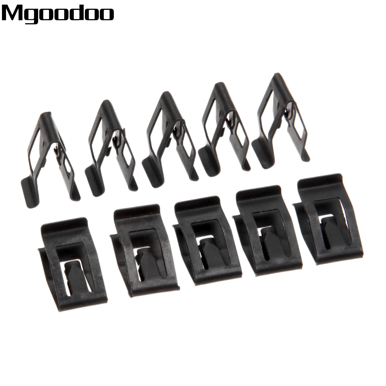 10x FORD BODY DASHBOARD FRONT CONSOLE FASTEN METAL RETAINER BLACK CLIP