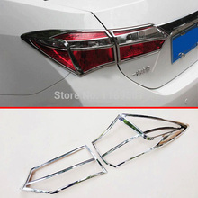 For Toyota Corolla 2014 2015 2016 ABS Chrome Tail light Cover Trim