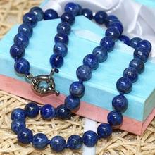 Мода Натуральный Камень Синий Лазурит бусины 6 мм 8 мм 10 мм 12 мм 14 мм круглые бусины DIY ожерелье элегантный подарок ювелирные изделия 18 дюймов B667