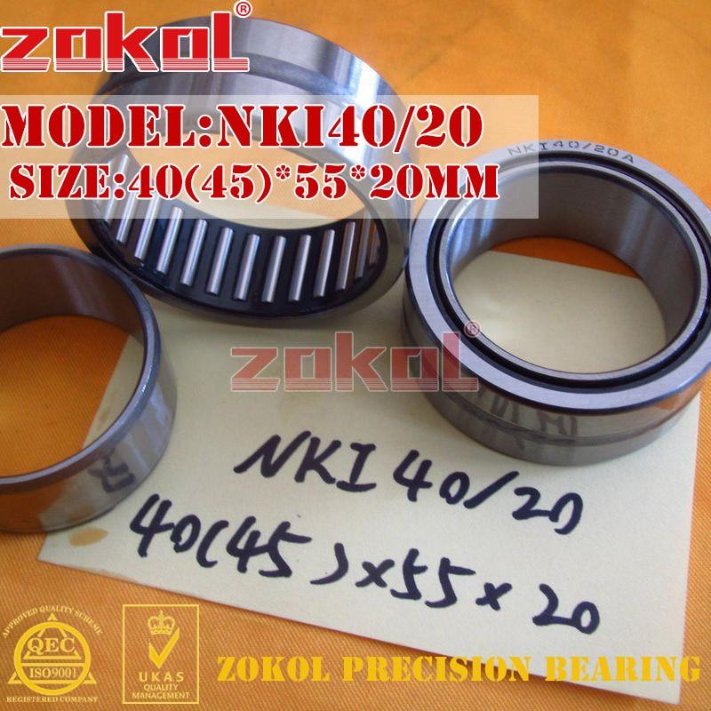 ZOKOL bearing NKI40/20 Entity ferrule needle roller bearing 40(45)*55*20mm na4910 heavy duty needle roller bearing entity needle bearing with inner ring 4524910 size 50 72 22