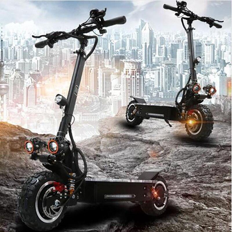 60 v 3200 W puissant trottinette électrique max sur 65-80 KM 60 V 30A batterie au lithium vélo électrique pliant Hommes skateboard électrique