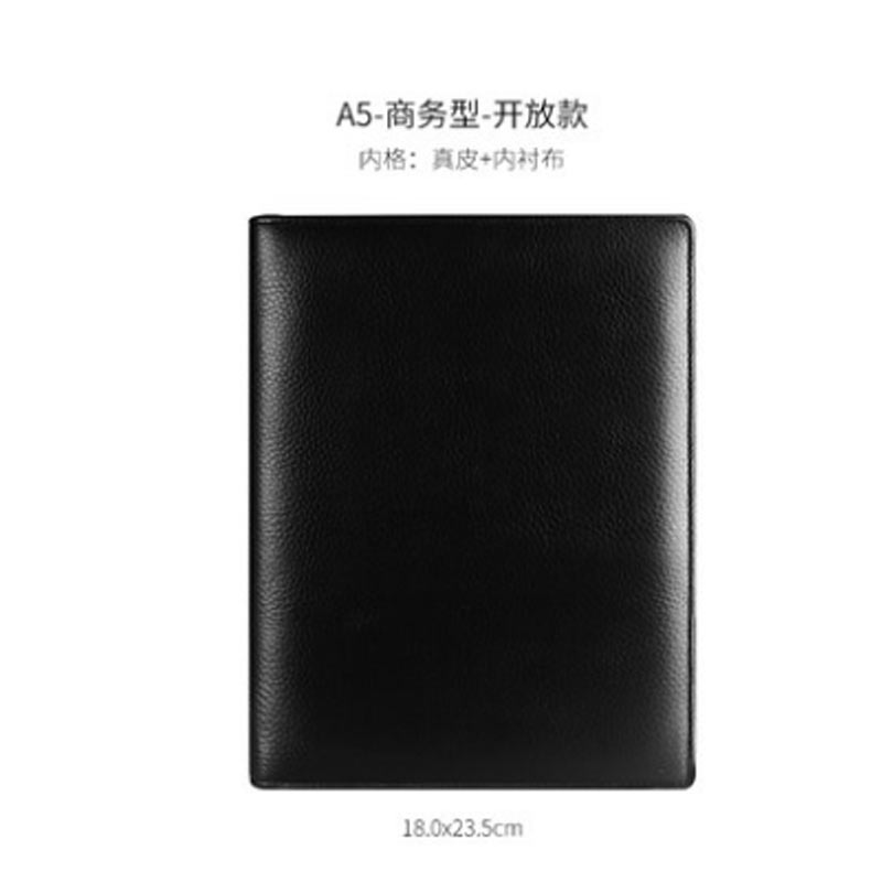 Image 5 - Yiwi  Black A4 B5 A5 A6 A7 100% Genuine Leather Notebook Business Planner  Handmade Agenda Sketchbook Diary Vintage Stationery-in Notebooks from Office & School Supplies