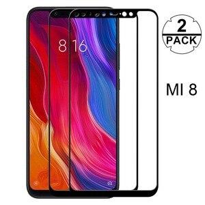 Image 1 - 2 Paquete de mi. Protector de pantalla de vidrio templado para Xiaomi mi 8 Lite mi 9 SE M9 de protección película de vidrio para Xiaomi mi A2 Lite A2