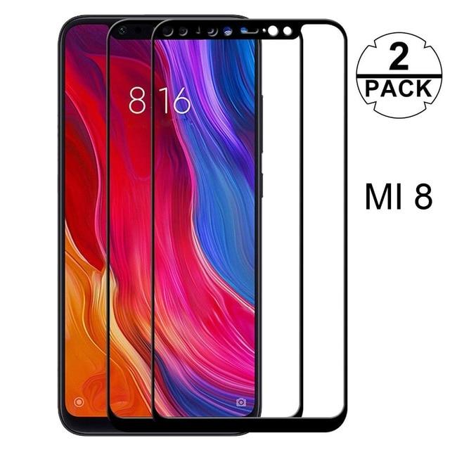 2 Paquete de mi. Protector de pantalla de vidrio templado para Xiaomi mi 8 Lite mi 9 SE M9 de protección película de vidrio para Xiaomi mi A2 Lite A2