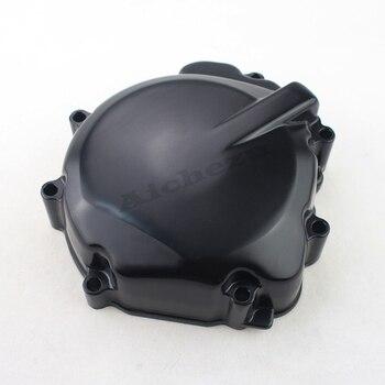 ACZ, piezas de motocicleta, cubierta de cárter de estator negro izquierdo del Motor, Protector de cárter de Motor para Suzuki GSXR1000 GSXR 1000 K3 2003-2004