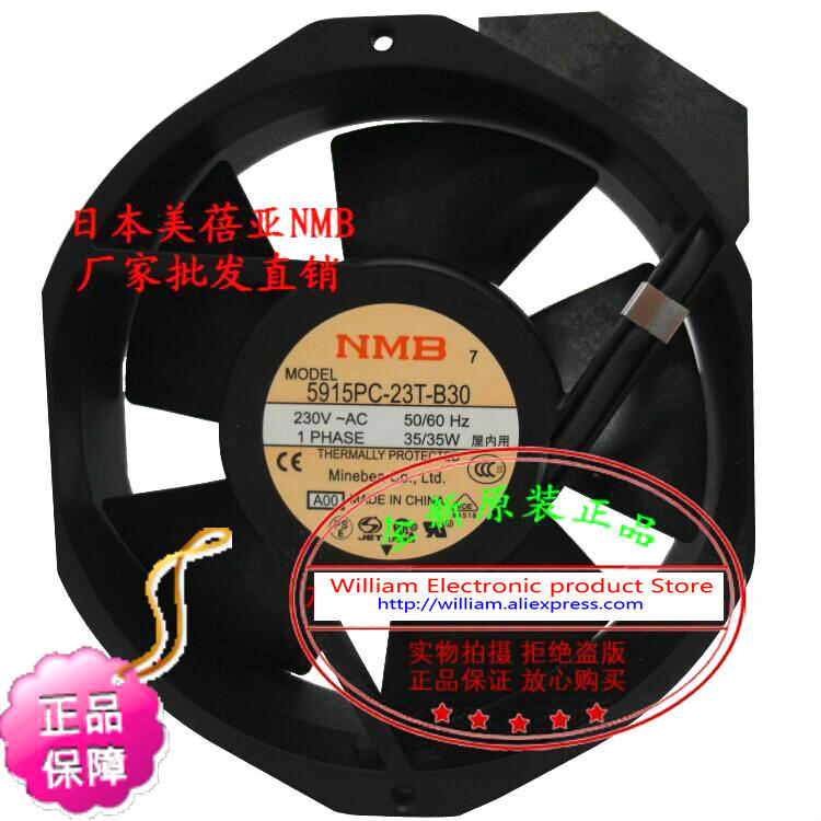 New Original NMB 5915PC-23T-B30 172*38MM AC220V 35W axial cooling fan new original 3115ps 23t b30 230v 8 10w 8038 aluminum frame axial fan