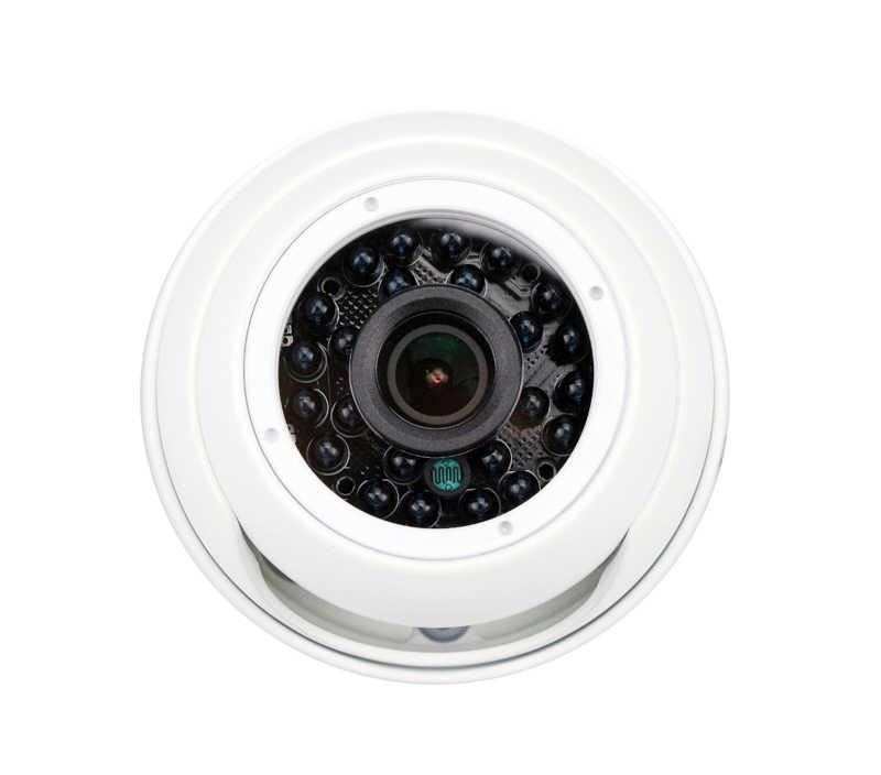 24 шт. Инфракрасные светодиоды 5mp/4MP/2MP наружная IP66 белая металлическая купольная, аналоговая высокой четткости полушарие камеры видеонаблюдения Бесплатная доставка