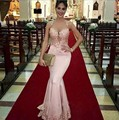 Pink Long Mermaid Evening Dresses 2016 Vestido De Festa Princess Style Formal Evening Gowns For Wedding Party Prom Dresses