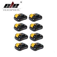 Wholesale Eleoption 8 PCS Replacement Power Tool Battery For Dewalt 12V 2 0Ah 2000mah Li Ion