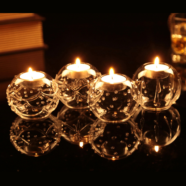 Blown Round Glass Ball,Tealight Candle Holders, Wedding centerpieces Candlestick , Party Festival Xmas Home Unique design 8cm