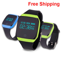 2016 Newest E07S Waterproof Watch Sports Smart Bracelet Pedometer Fitness Tracker Smartband Call Reminder for Android
