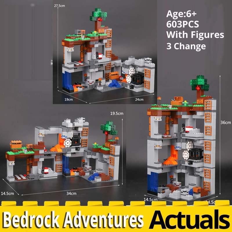 BOLX 81072 mon monde sous-sol aventures compatibles legoinglys Minecraft 21147 modèle kit briques de construction blocs jouets éducatifs