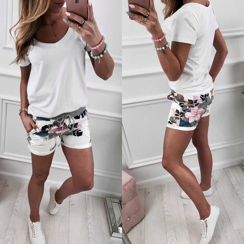 Short-Pants Flowers-Pattern Girls Beach-Party High-Waist Casual Women Summer Hot-Style