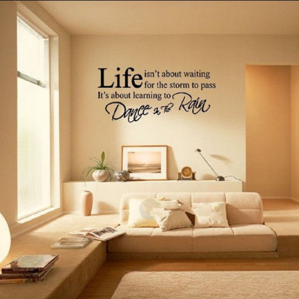Life quotes letter motivational words room mural wall art sticker life quotes letter motivational words room mural wall art sticker home decal decor pvc free shipping in wall stickers from home garden on aliexpress amipublicfo Choice Image