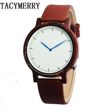 Red Sandalwood Watches Luxury Movement QUARTZ Wood Watch With Genuine Leather Starp Unique Gift