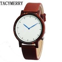 Red Sandalwood Watches Luxury Movement QUARTZ Wood Watch With Genuine Leather Starp Unique Gift цена в Москве и Питере