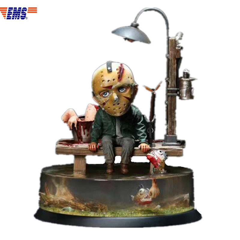 Presale Friday The 13th Phonomania Jason Voorhees Fishing Resin Scenes Statue Model Toy (Delivery Period: 60 Days) X669