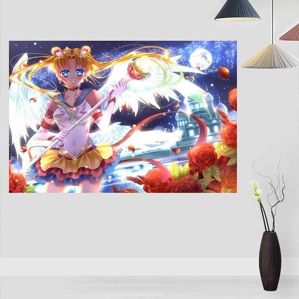 Lona Decoração de Casa Pintura 1 Peças Sailor Moon Anime Imagem Imprimir Wall Art Moderno Modular Novo Cartaz Para A Menina quarto