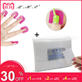 LKE Nail Tools 1pack Lint-Free Wipes Nail Polish Remover & 26pcs/box Nail Varnish Protector Spill-Resistant Manicure Finger Cove