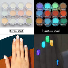 Fluorescent Nail Powder Neon Phosphor Pigment Colorful Decor Nail Powder Dust Nail Glitter Gradient Iridescent Acrylic #ZF(China)