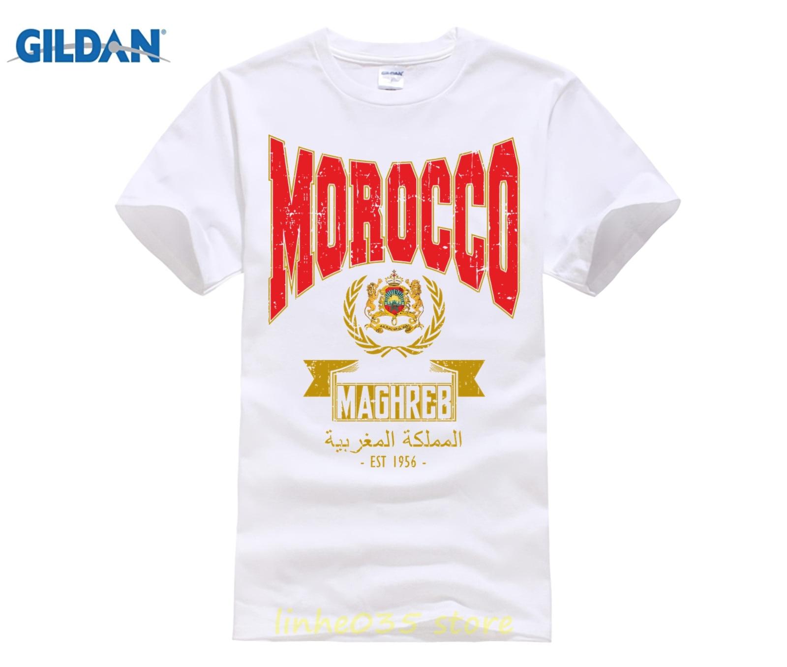 Fußball 1955 Morocco T-Shirt Marokko 19 Rot WM 2018 World Cup EST