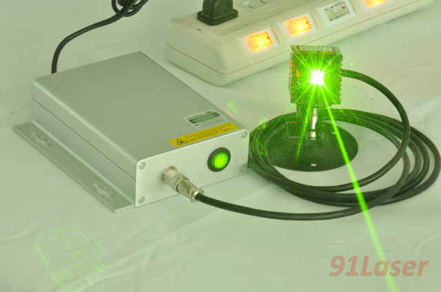 100mW 532nm green laser with switch power supply(220V/110V) Plug and use