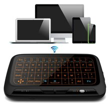 2.4G Wireless Full Touchpad Mini Keyboard Gaming Backlight Fly Air Mouse Remote Control For Windows/Android/Smart TV Box/Xbox/PC