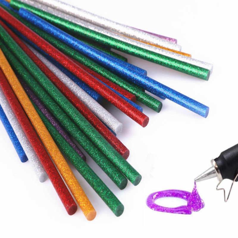 25 個グリッターホットメルト接着剤はグルーガンクラフト電話ケース合金玩具アートモデルアルバム修理アクセサリー接着剤スティック