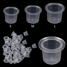 1000 Pcs/Bag Tattoo Ink Caps Cups Reusable Permanent Tattoo Pigment Container Makeup Supplies Professional Waterproof Durable
