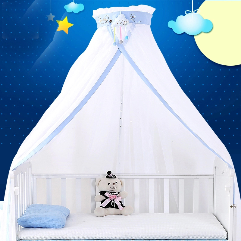 Baby Bed Curtains Large Size Crib Netting Round Dome Baby Bed Mosquito Net Baby Cot All-around Tent Children Room Decorations nordic white lace girls princess dome canopy bed curtains round kids play tent room decoration baby bed hanging crib netting