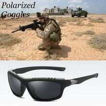 54fc9bbd93 Hombre superior polarizado ejército Gafas deportivas Gafas de sol de  conducir UV400 de pesca, los hombres táctico Gafas de sol S..