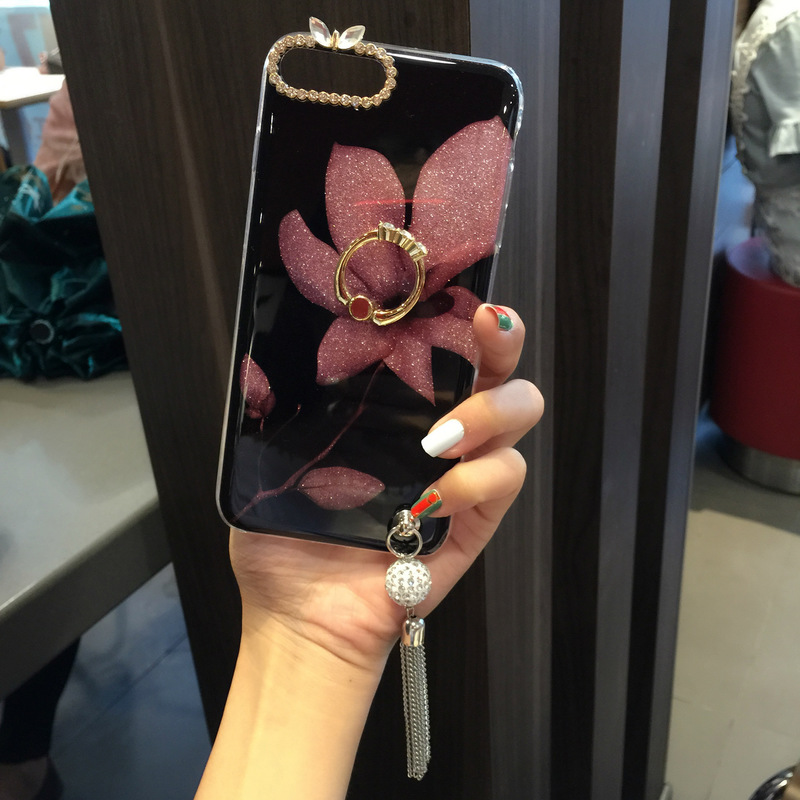 CHAOLIDA Wholesale Fancy Flower Women Luxury Mobile Case Fille for Iphone X 6 6s 6plus 7 7plus 8 8plus Soft Capa Anti Shock in Fitted Cases from Cellphones Telecommunications