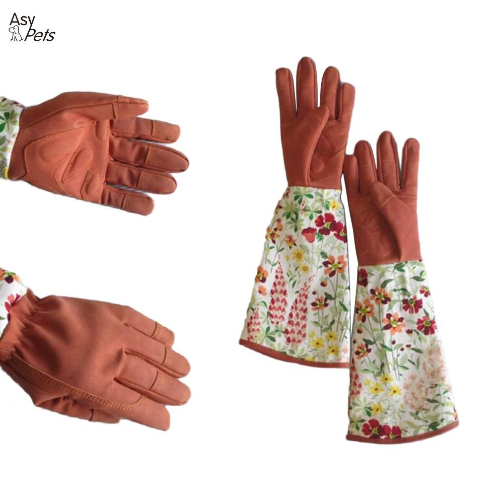 1 Pair Printed Working Planting Gloves Anti Stab Gardening Labor Tools Trimming Thicken Cold-proof Pruning Security Long Sleeve Garden Tools