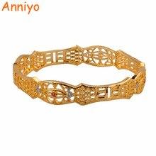 Anniyo 6.2cm Mixed Gold Color Bangle for Women Arab Dubai Wedding Bracelet African Bride Jewelry Gifts #014512