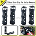 """1""""25mm Handle Bar Hand Grips Aluminum CNC Deep Cut  For For Harley Throttle by Wire Touring Tri-Glide"""