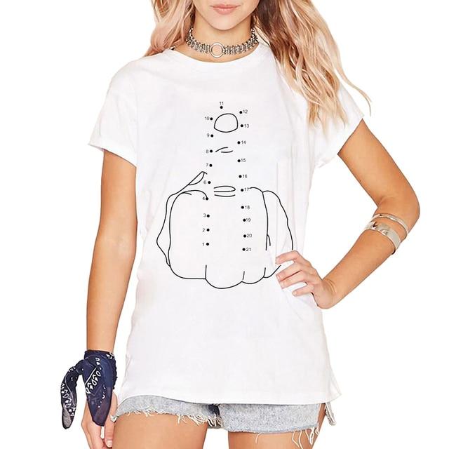 747df39a Shameless T-shirt F you Connect the dots T Shirt Printed Cool Funny Slang  TShirt Fashion Brand Summer Men Women Tees