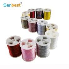 12 pcs/set 3 6 9 Strands Metallic Weaving Thread Shiny Effect Jewellery DIY Crafts String Stitch Weave Threads TH00047