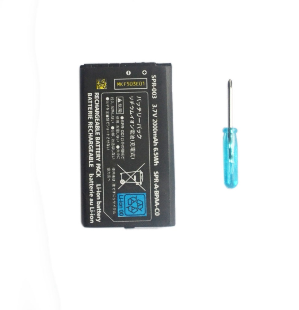 2000mAh 3.7V Rechargeable Lithium-ion <font><b>Battery</b></font> with Tool Kit Screwdriver <font><b>Pack</b></font> for Nintend <font><b>3DS</b></font> LL/XL image