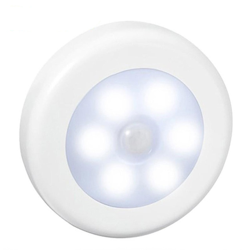 Wall Motion Sensor Led Night Light Emergency Detector Battery Closet Cabinet Stairs Mini Lamp Home Light
