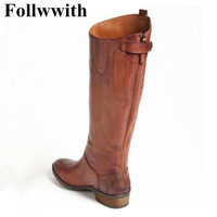 2018 Newest Fashion Genuine Leather Chelsea Boots Knee High Back Zip Men Boots Low Heel Party Wedding Shoes Trainers Winter
