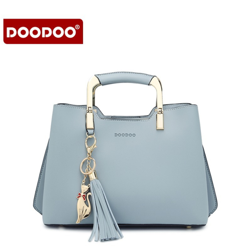 DOODOO New Brand designer Women Bag Fashion Brand handbag Solid Pu Leather Lady Shoulder Bag Female Casual Tote Crossbody bags