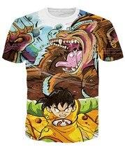 Dragon Ball Z Super Saiyan Vegeta 3D Anime Summer Casual Unisex T-shirt