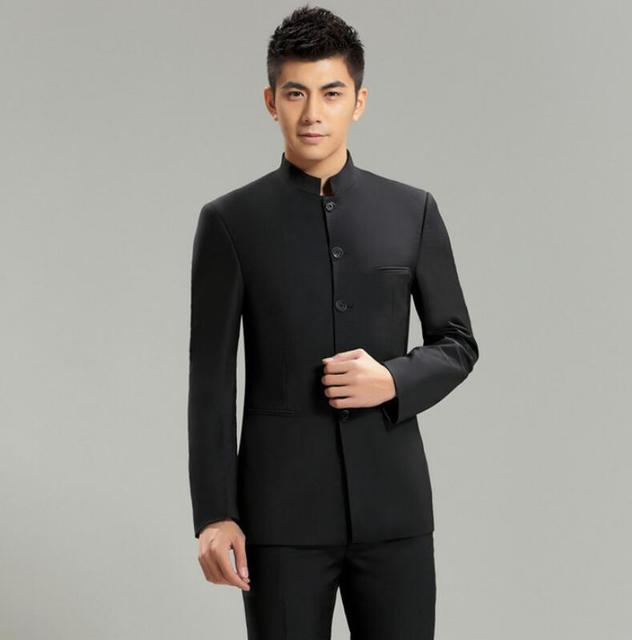 Chinoiserie Suit Jacket Slim Fit Mandarin Collar Traditional Kung Fu Clothing High Quality New Fashion