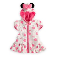 Pink Polka Dots Minnie Hoody Casual Girls Dresses Summer 2017 Kids Clothes Vestido Infantil Baby Girl