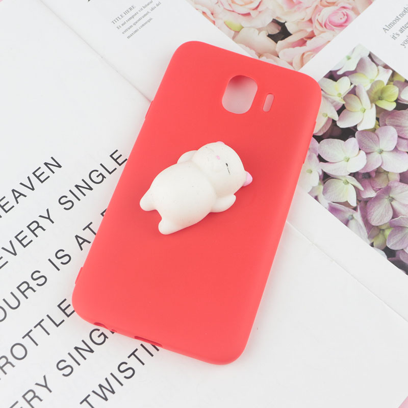9bcceeeb77 Squishy 3D Toys Phone Cat Case For Samsung Galaxy J1 mini Ace J2 Pro 2018  J5 Prime J7 2016 J3 2017 J4 J6 J7 Foot Soft Cases