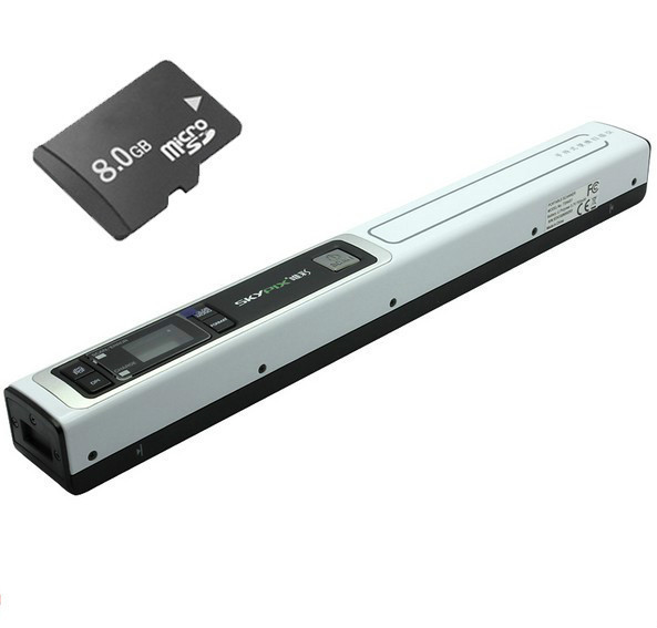Free Shipping! Free 8GB SD Card +Skypix TSN451 HD 900DPI Resolution High Speed Scanning A4 Document Scanner JPG/PDF File Scanner