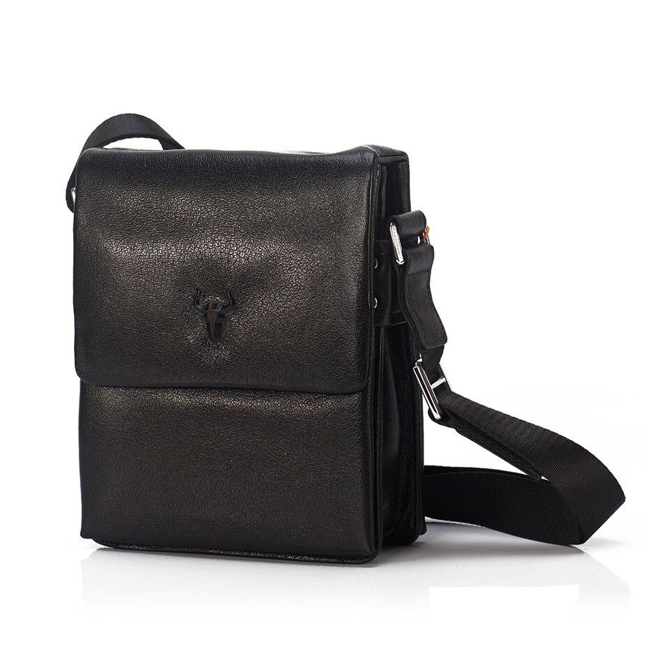 ФОТО Genuine Leather Man Fashion Crossbody Shoulder Bag Men's Travel New Bags Male Vintage Shoulder Bags Luxury Leather Handbag 236