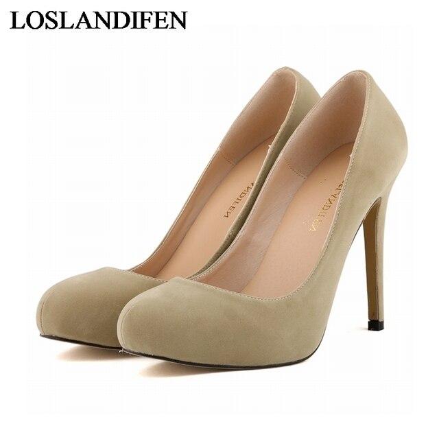 f2b8e3c5e7e Classic Nude Black Court Platform Pumps Women Office Work Heels Shoes  Elegant Ladies High Heel Pump Stiletto Shoes NLK-A0082