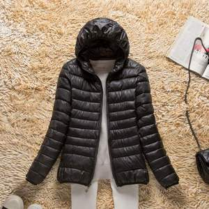 Image 5 - 2019 חדש סתיו חורף קל במיוחד למטה מעיל נשים חום Windproof נשים של קל משקל Packable למטה מעיל בתוספת גודל מעיילי